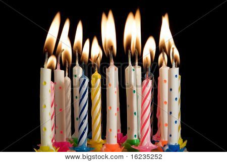 birthday party candles