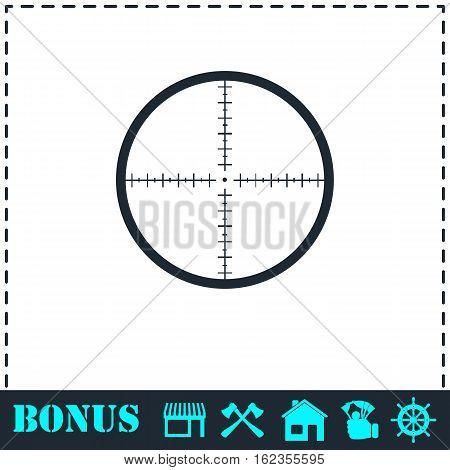 Aim icon flat. Simple vector symbol and bonus icon
