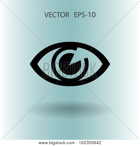 Flat icon of supervision. vector illustration