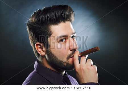 Smoking Cigar Man
