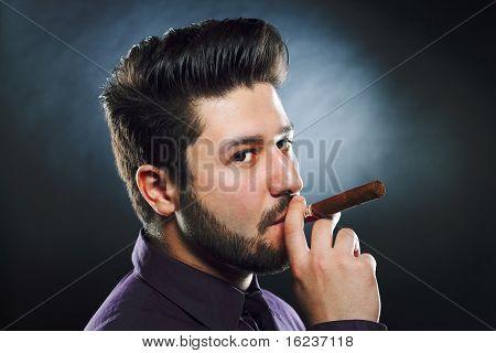 Smoking Cigar Man