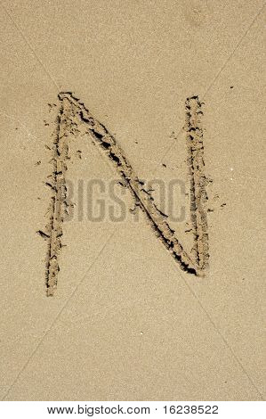 n in the sand