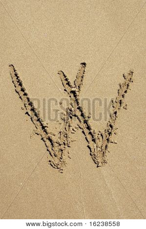 w in the sand
