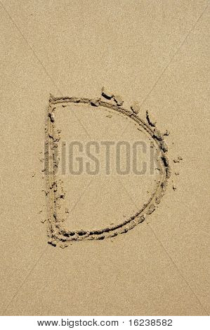 d in the sand