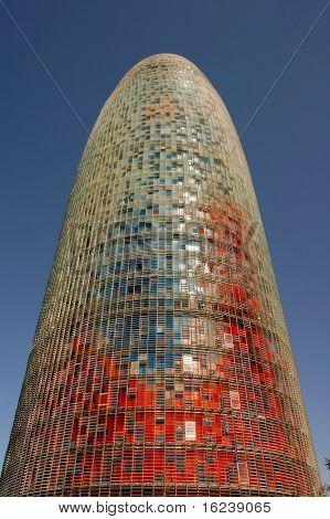 agbar tower in barcelona,spain