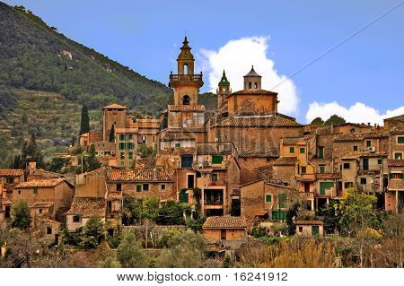 a view of valldemossa, in mallorca, balearic islands, spain