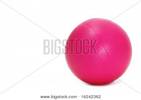 a little pink ball isolated on a white background