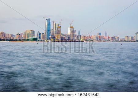 View Over Baku From Waterfront, Azerbaijan