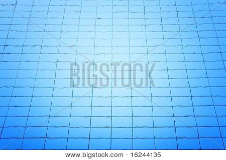 Blue Luxury Swimming Pool Full Of Water