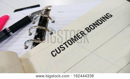 Customer Bonding Printed On White Book