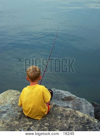 Boy Fishing #2