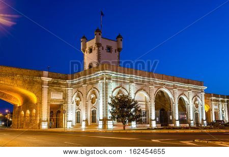 Puerta de Tierra, a city gate in Cadiz - Spain, Andalusia