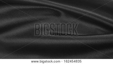 Smooth Elegant Dark Grey Silk Or Satin Texture As Abstract Background. Luxurious Background Design