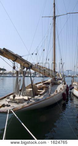 Sailing Yacht At Quai