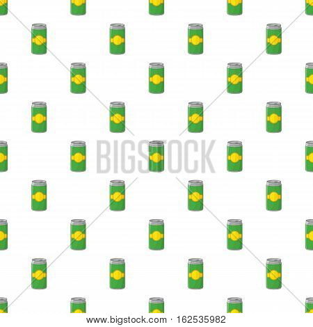 Aluminum cans for beer pattern. Cartoon illustration of aluminum cans for beer vector pattern for web