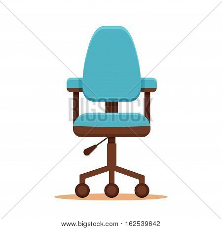 Office chair icon colorful flat concept. Vector illustration of business chair icon. Corporate team vacancy design vector concept.