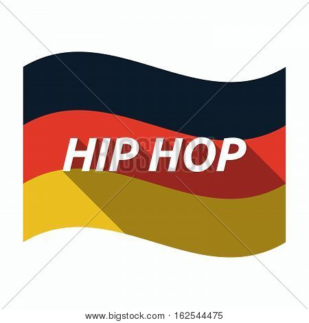 Isolated German Flag With    The Text Hip Hop