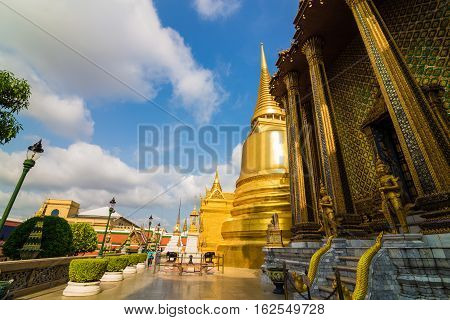 Royal Grand Palace Wat Phra Kaew Locate At Bangkok