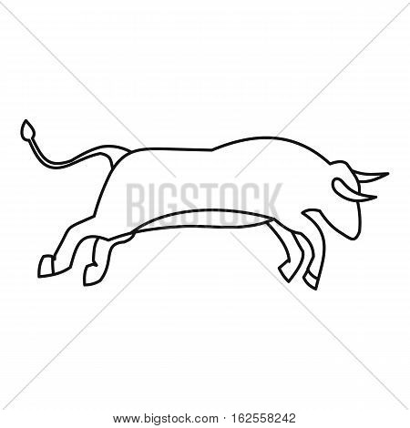 Bull icon. Outline illustration of bull vector icon for web