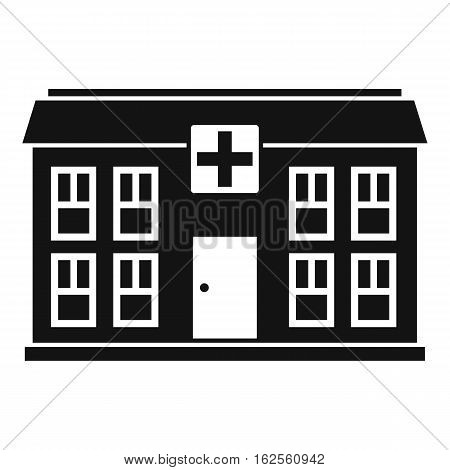 Hospital icon. Simple illustration of hospital vector icon for web
