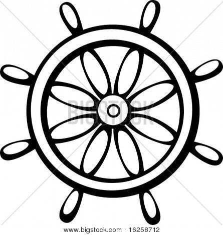 controlling wheel of a ship