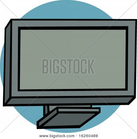 modern plasma or lcd television