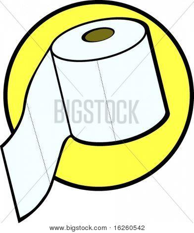 rollo de papel de baño