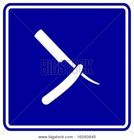 barber knife sign