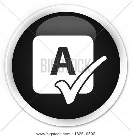 Spell Check Icon Premium Black Round Button