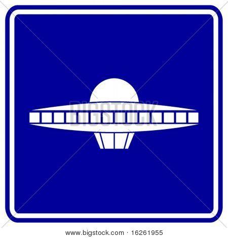 alien ship sign