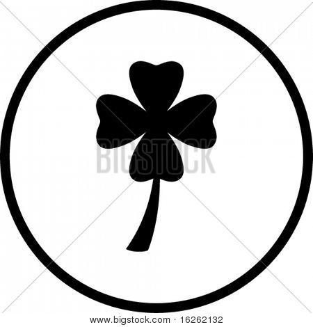 four leaves clover or shamrock symbol
