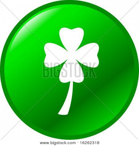 four leaves clover or shamrock button