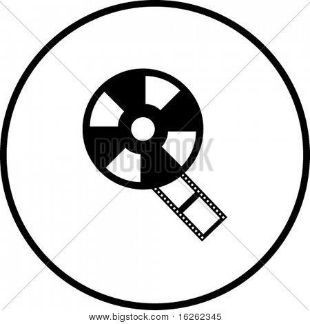 símbolo de bobina de filme