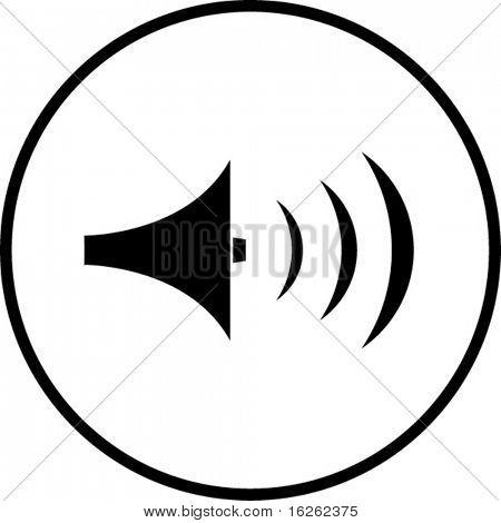 símbolo del volumen del sonido