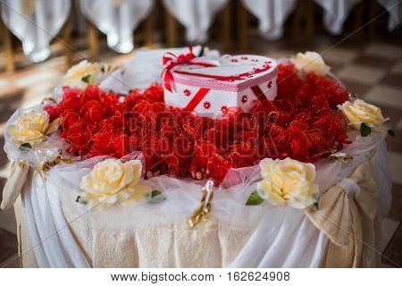box of postcards wedding table candy boxes candy decorated table wedding ceremony feast