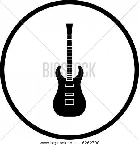 electric guitar symbol