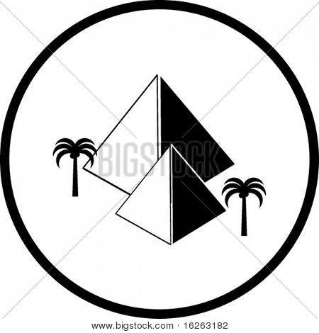 pyramids in egypt symbol