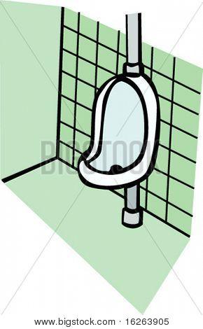 urinoir in een badkamer