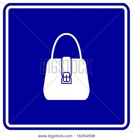 hand bag purse sign