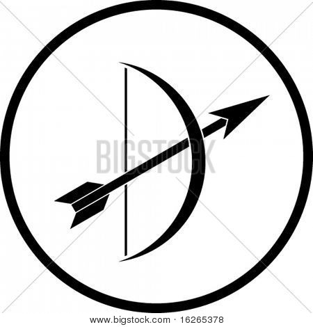 arrow and bow symbol