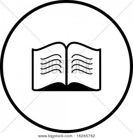 símbolo de livro aberto