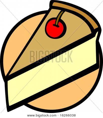 pie slice with cherry on top