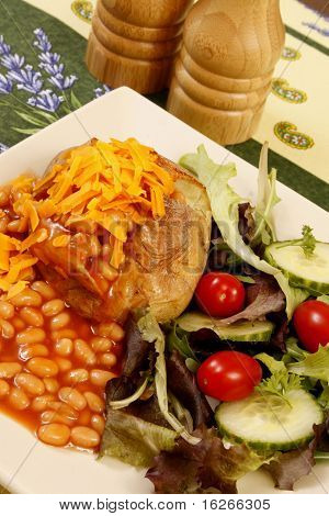 Jacket Potato cheese and beans 3