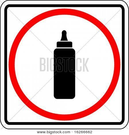 baby bottle sign
