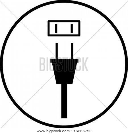 símbolo de enchufe y el enchufe de alimentación