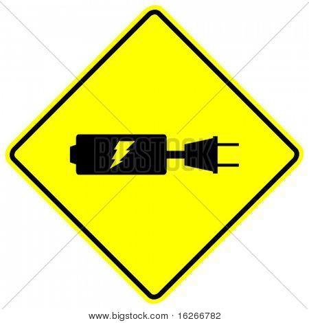 recharging batteries sign