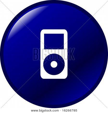 potable music player button