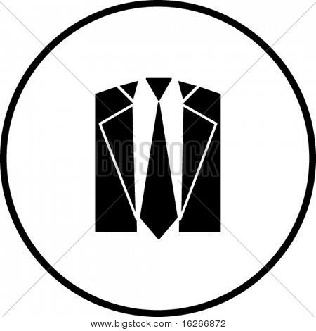 tie and suit symbol
