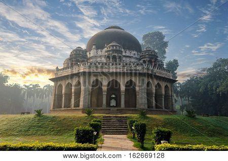 Muhammad Shah Sayyid's Tomb at early morning in Lodi Garden Monuments Delhi India