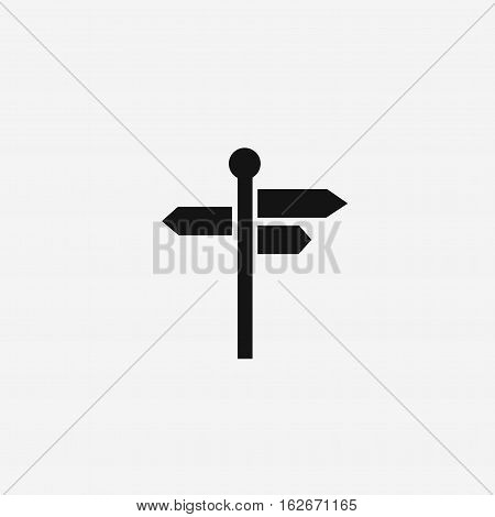 three way direction arrow sign, road direction icon